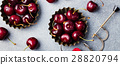 Black cherries in a bowl Stone background Top view 28820794