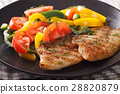 Grilled tilapia fillets and fresh pepper 28820879