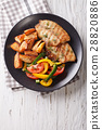 Grilled Tilapia fillet and potato wedges 28820886