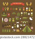 Military and war icons set. Army infographic 28821472