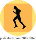 runner silhouette vector 28822062