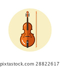 Icon of classical violin with fiddle stick 28822617