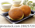 dorayaki, two small pancakes with bean jam in between, snack 28825720