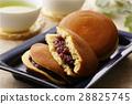 銅鑼燒 兩個小煎餅中間夾豆餡 甜食 28825745