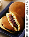 dorayaki, two small pancakes with bean jam in between, snack 28825747