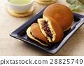 銅鑼燒 兩個小煎餅中間夾豆餡 甜食 28825749