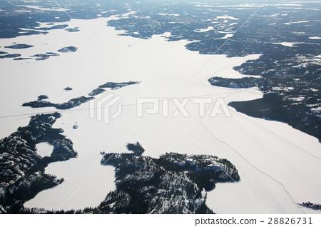 캐나다 아이스로드 공중 촬영 Great Slave Lake canada Ice Road 28826731