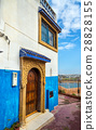 Famous blue and white houses in Kasbah of the 28828155