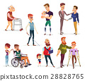 Set of vector cartoon illustrations of people with 28828765