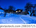 house, night, winter 28830725
