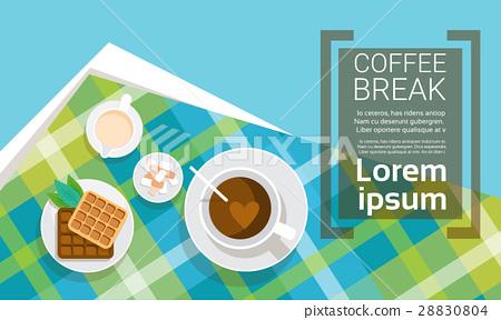 Coffee Cup Break Breakfast Drink Beverage Top View 28830804