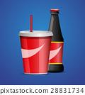 Bottle of cola soda. vector illustration 28831734