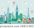 Cities skylines design with landmarks. London 28831963