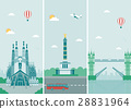 Cities skylines design with landmarks. London 28831964