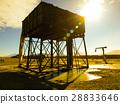 Vintage railroad water tank and pump 28833646