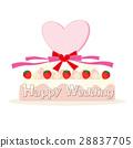 웨딩 케이크 리본 28837705