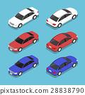 Flat 3d isometric car 28838790