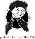cat color woman 28842358