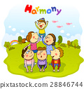 harmony, friendly, colleagues 28846744
