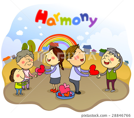 harmony, friendly, colleagues 28846766