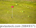 Training hole on golf course 28849371