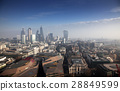 rooftop view over London on a foggy day 28849599