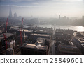 rooftop view over London on a foggy day 28849601