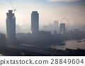 rooftop view over London on a foggy day 28849604