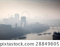 rooftop view over London on a foggy day 28849605