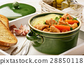 Turkey goulash stewed with vegetables and potatoes 28850118