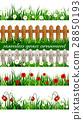 Green Grass seamless set 28850193