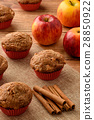 Sweet muffins with apples and cinnamon. 28850922
