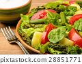 Vegetable salad with asparagus and vegetables 28851771