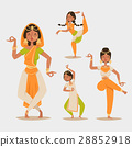 Indian woman dancing vector isolated dancers 28852918