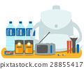 Illustration material: Disaster prevention goods Flat design vector 28855417