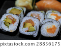 Variety of fresh sushi - very delicious Japanese 28856175
