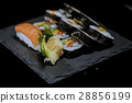 Variety of fresh sushi - very delicious Japanese 28856199