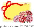 康乃馨 母亲节 卡片 28857057
