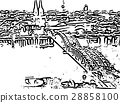 City skyline of cologne in Germany 28858100