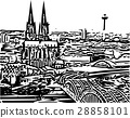 City skyline of cologne in Germany 28858101