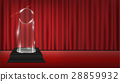 real 3d transparent acrylic trophy with red curtai 28859932