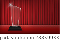 real 3d transparent acrylic trophy with red curtai 28859933