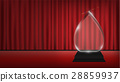 real 3d transparent acrylic trophy with red curtai 28859937