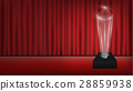real 3d transparent acrylic trophy with red curtai 28859938