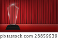 real 3d transparent acrylic trophy with red curtai 28859939