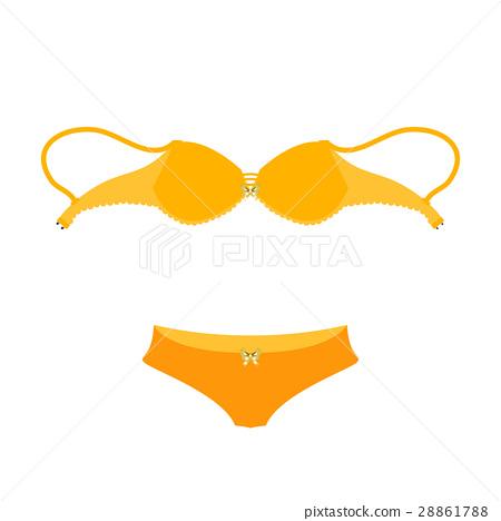 selling bra underwear. illustration 28861788