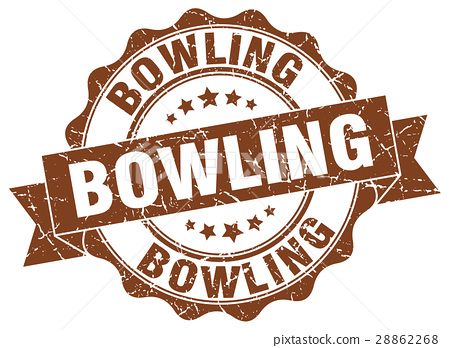 bowling stamp. sign. seal 28862268