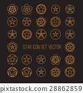 bright star icon set 28862859