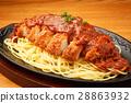 细意大利面 厚肉片 炸猪排 28863932