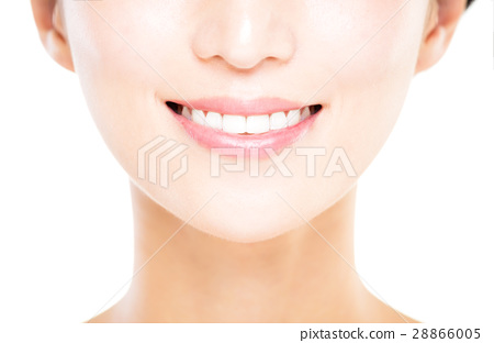 young woman with great healthy white teeth 28866005